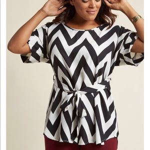 Black & White Chevron Top From ModCloth